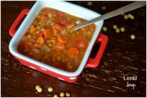 Lentil Soup for a prosperous new year