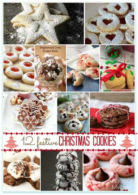 12 festive Christmas cookies @placeofmytaste.com