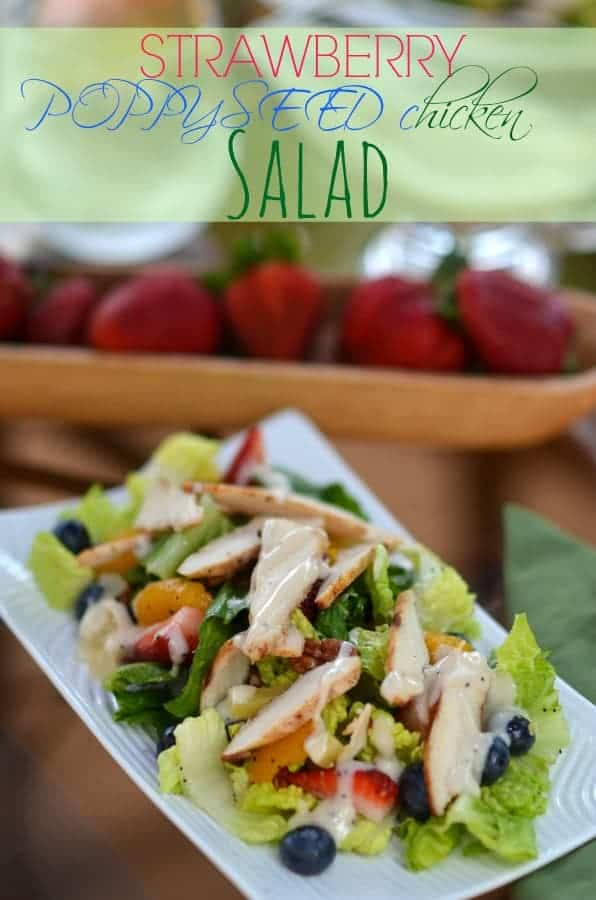 Strawberry PoppySeed Chicken Salad { Copycat Panera }