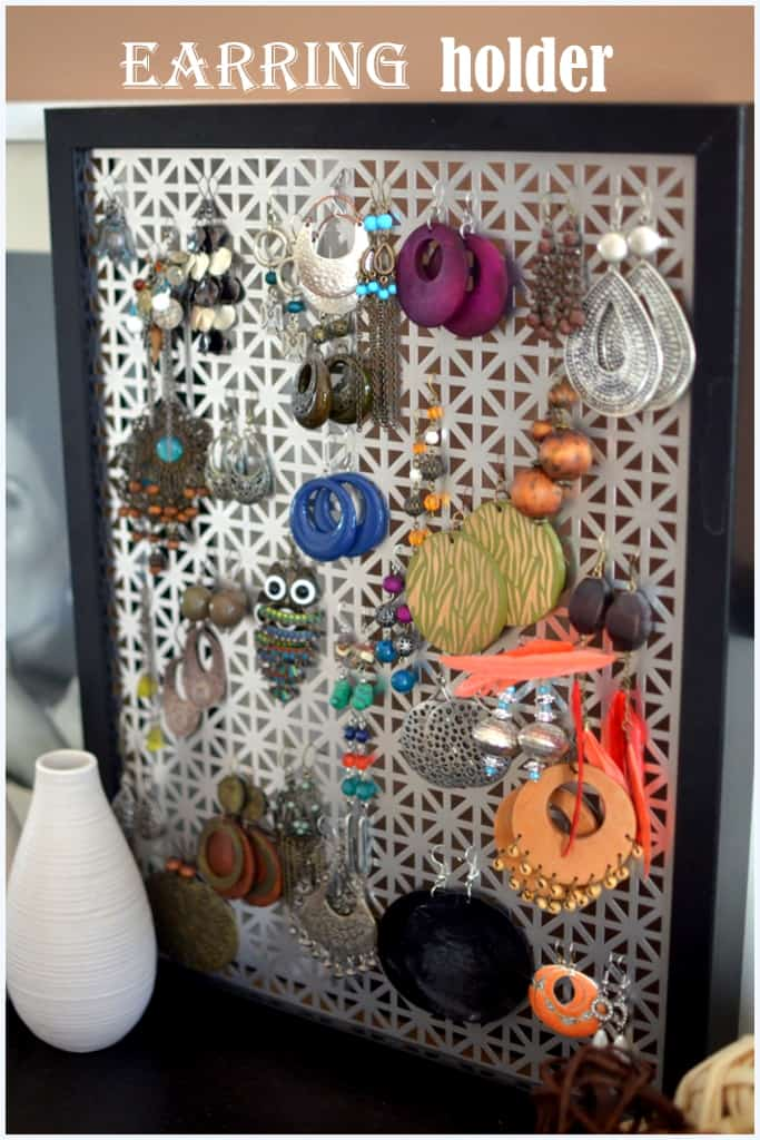 Diy Earring Holder Place Of My Taste