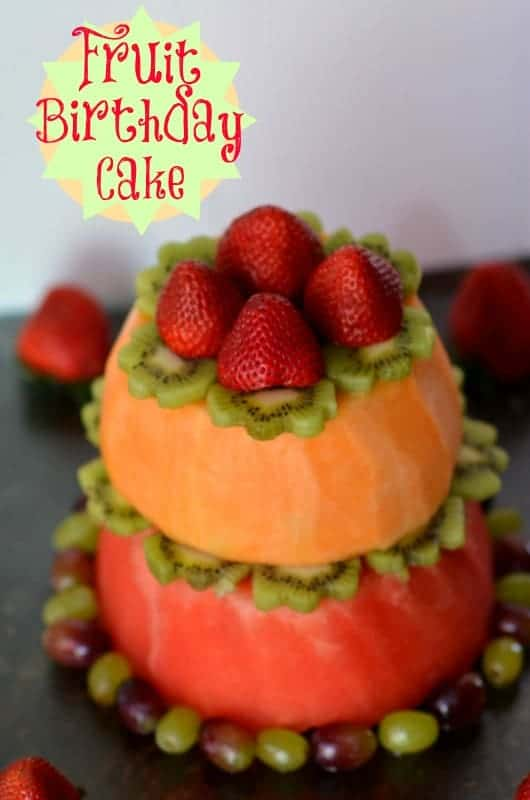 "Fruit ""Cake"" { Healthy Birthday ""cake"" }"