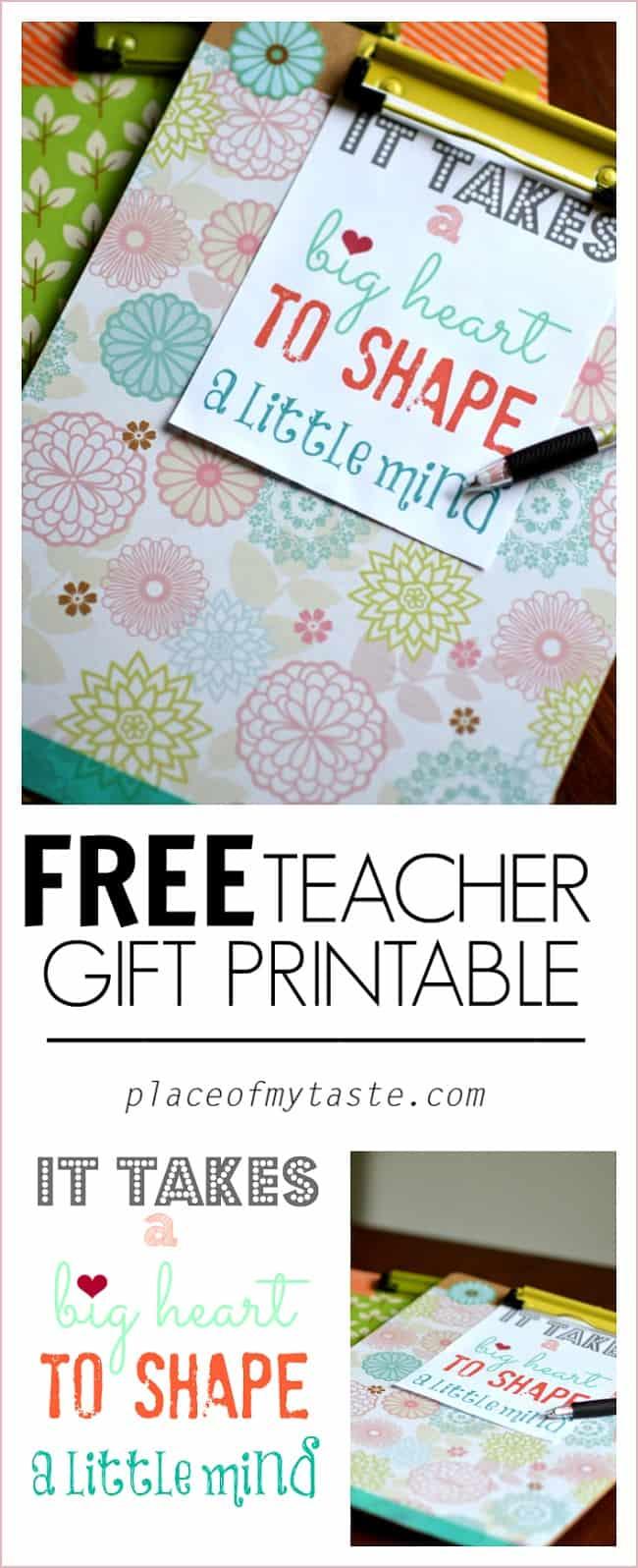 Teacher gift printable