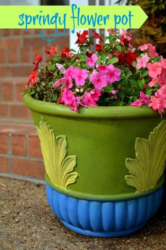 springy flower pot