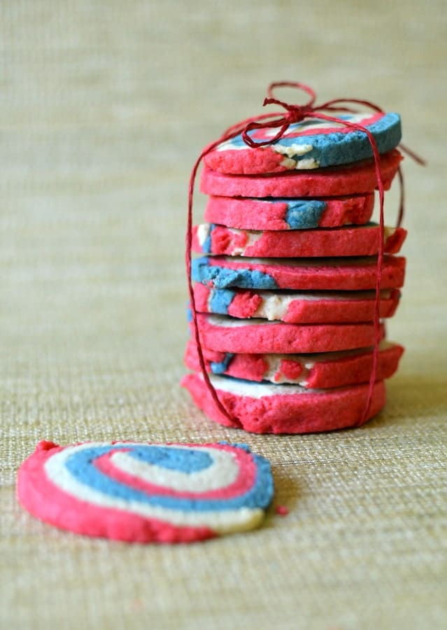 PINWHEEL COOKIES { Red, White and Blue }