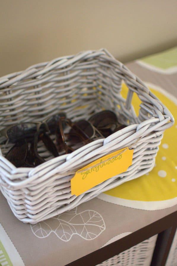 Sunglasses Basket { Organize sunglasses }