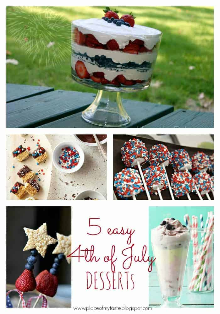 5 easy 4TH OF JULY DESSERTS