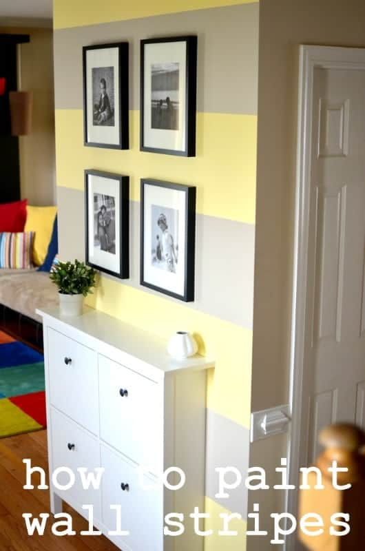 Colorful Wall Stripes Ideas Image Collection - Wall Art Design ...
