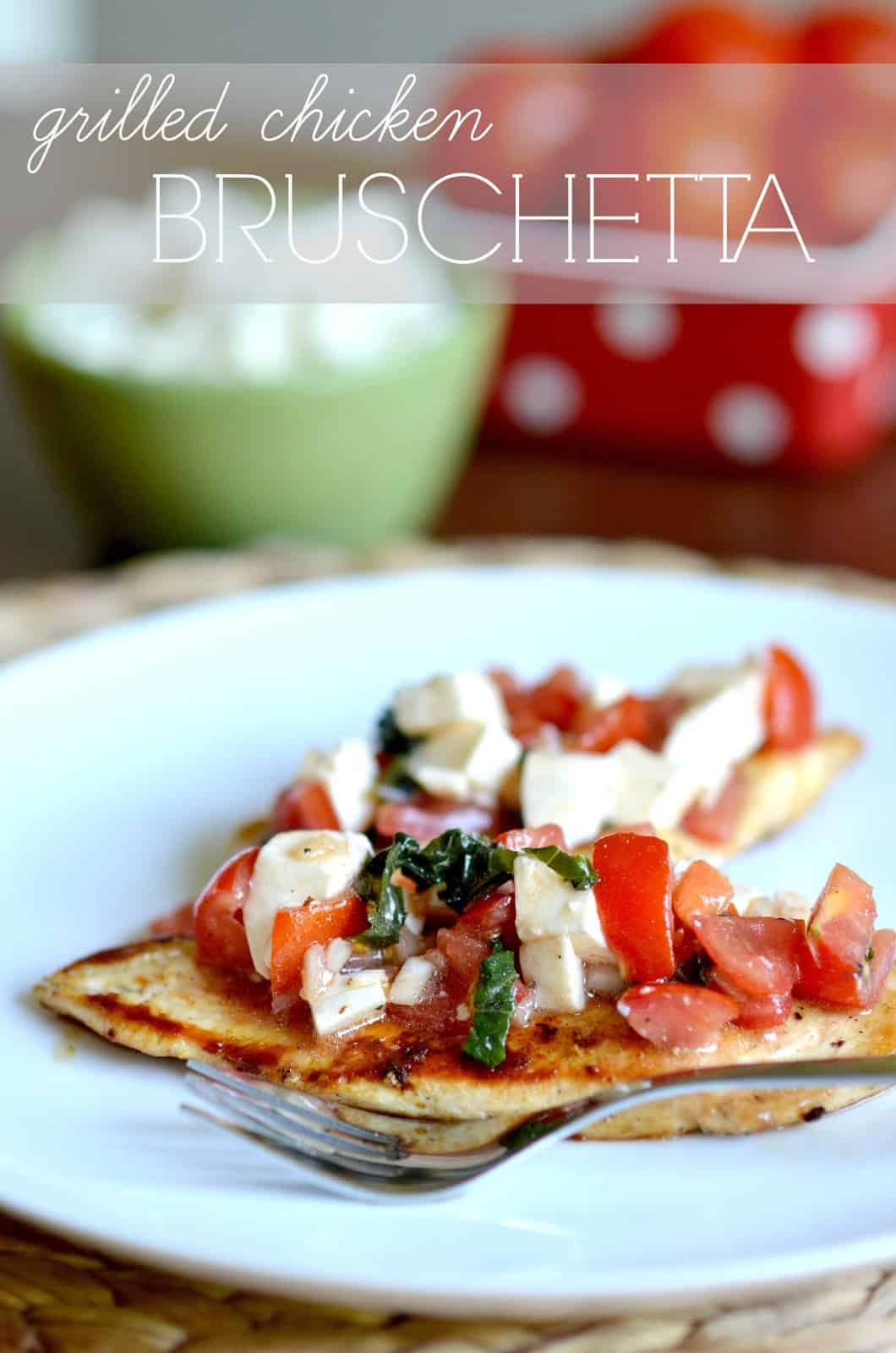 GRILLED BRUSCHETTA CHICKEN and AMAZON GIFT CARD GIVEAWAY
