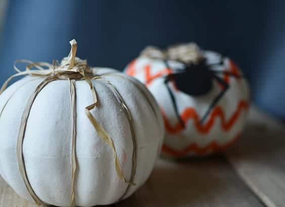 DIY dollar store PUMPKINS