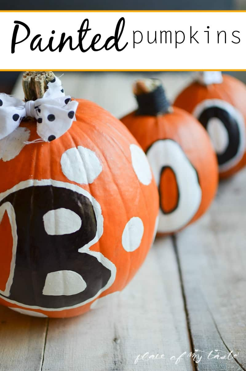 Painted Pumpkins - www.placeofmytaste.com-