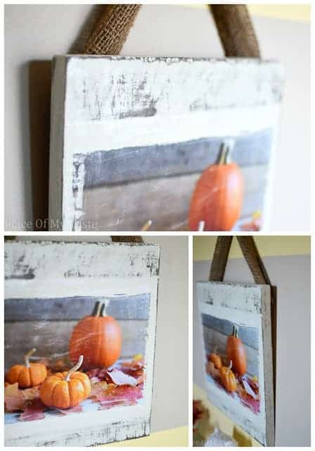 Distressed Fall Wall Art @placeofmytaste.com
