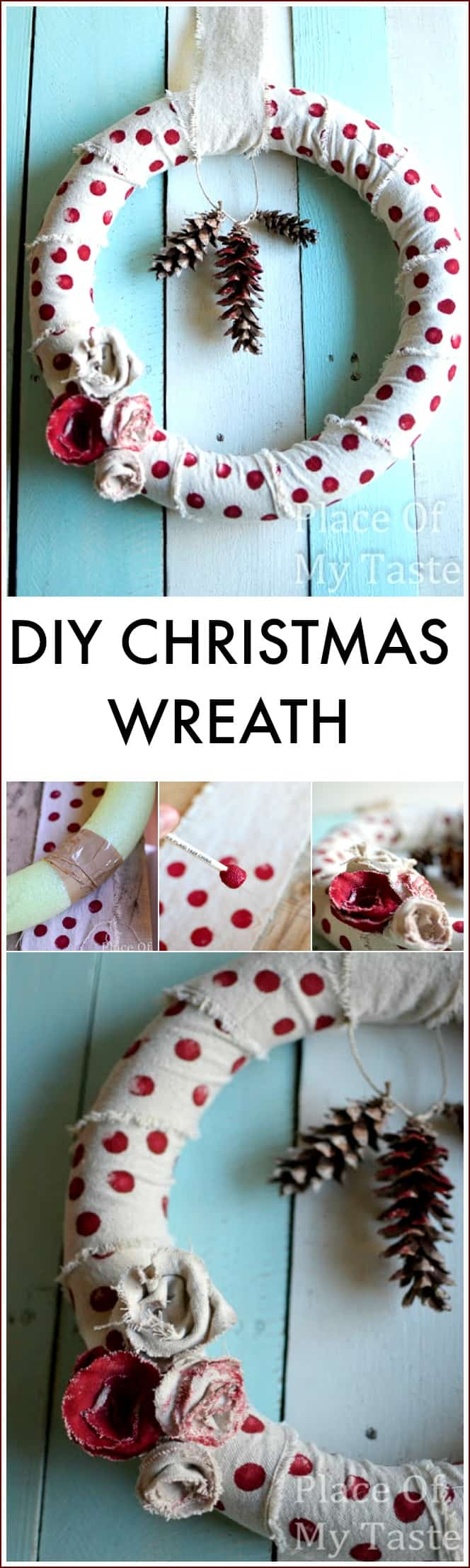 Drop Cloth Christmas Wreath