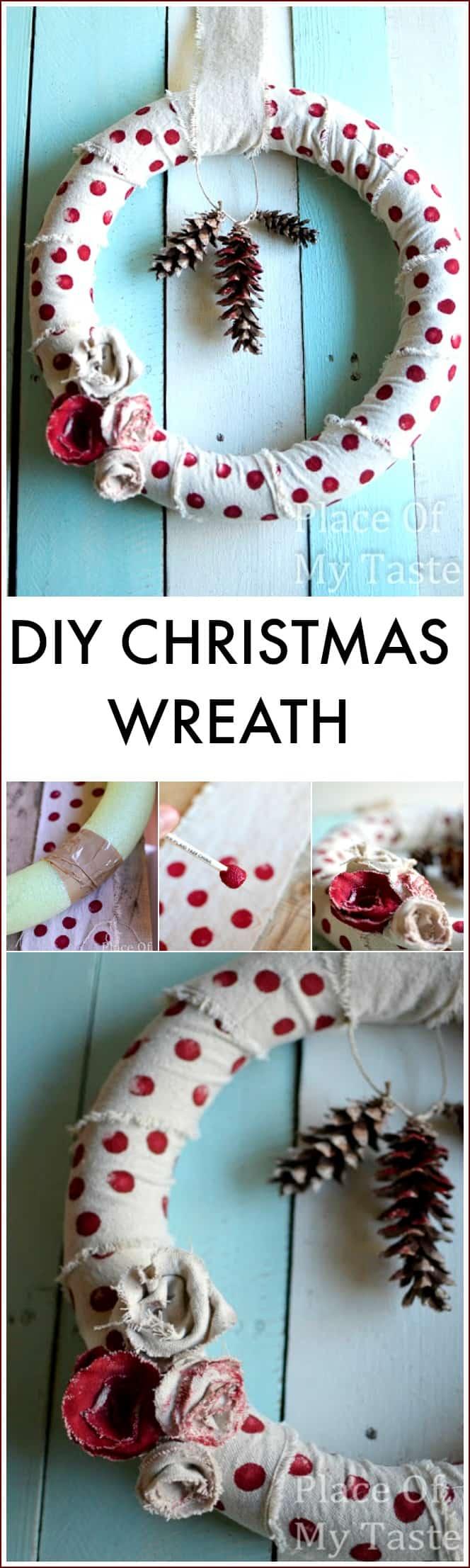 Drop Cloth Christmas Wreath