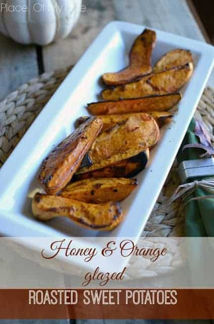 HONEY&ORANGE GLAZED ROASTED SWEET POTATOES
