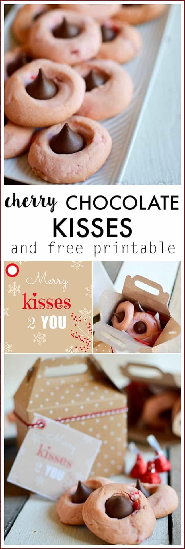 Cherry Chocolate kisses and free printable