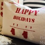 Drop Cloth Holiday Pillow Covers