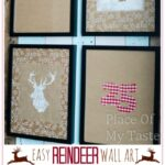 Easy Reindeer Wall art