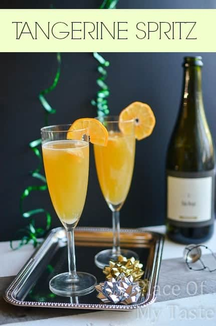 New Year's Eve Cocktail { Tangerine Spritz }