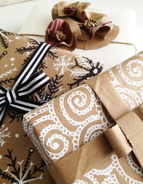 wrap gifts using all but brown paper in eight simple ways. Black Bedroom Furniture Sets. Home Design Ideas