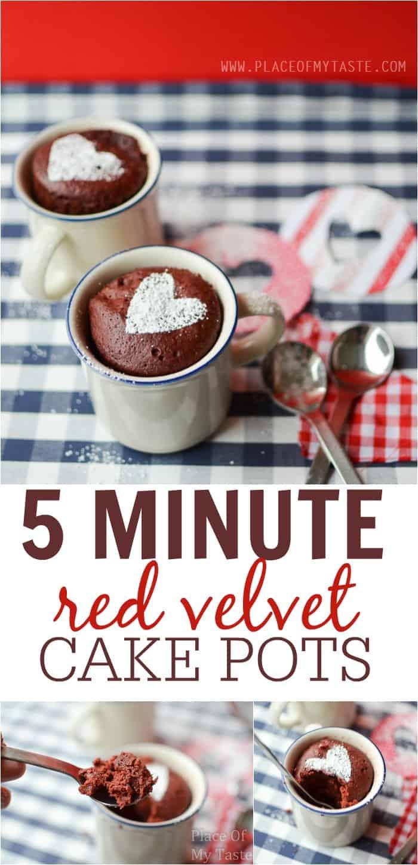 5 MINUTE RED VELVET CAKE POTS-Placeofmytaste.com