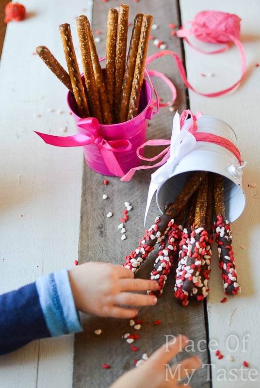 Chocolate dipped pretzel sticks @placeofmytaste.com-0540