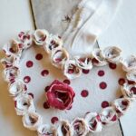 Drop Cloth Rosette Wreath