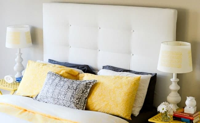 IKEA HACKS – UPHOLSTERED HEADBOARD
