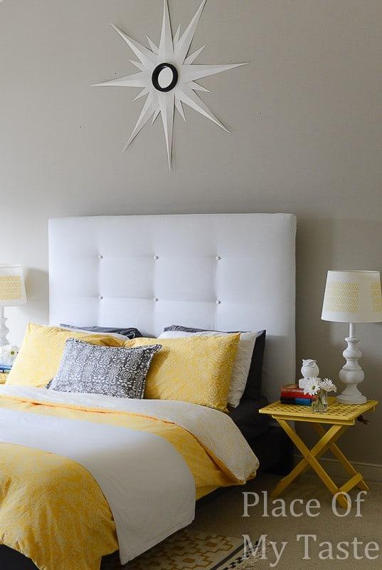 Ikea Malm Headboard Makover @placeofmytaste.com