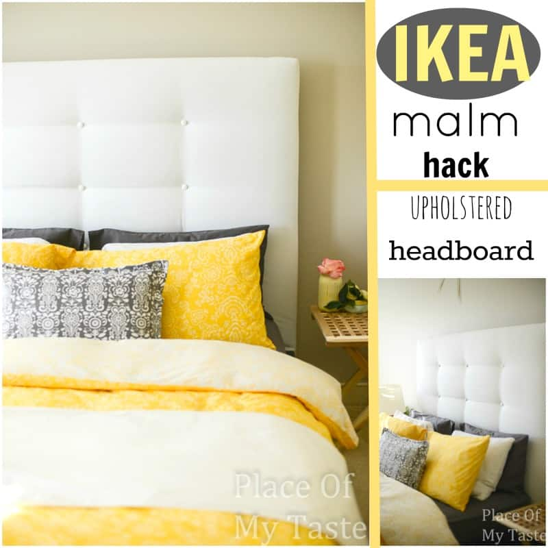 ikea hacks a diy upholstered malm headboard. Black Bedroom Furniture Sets. Home Design Ideas