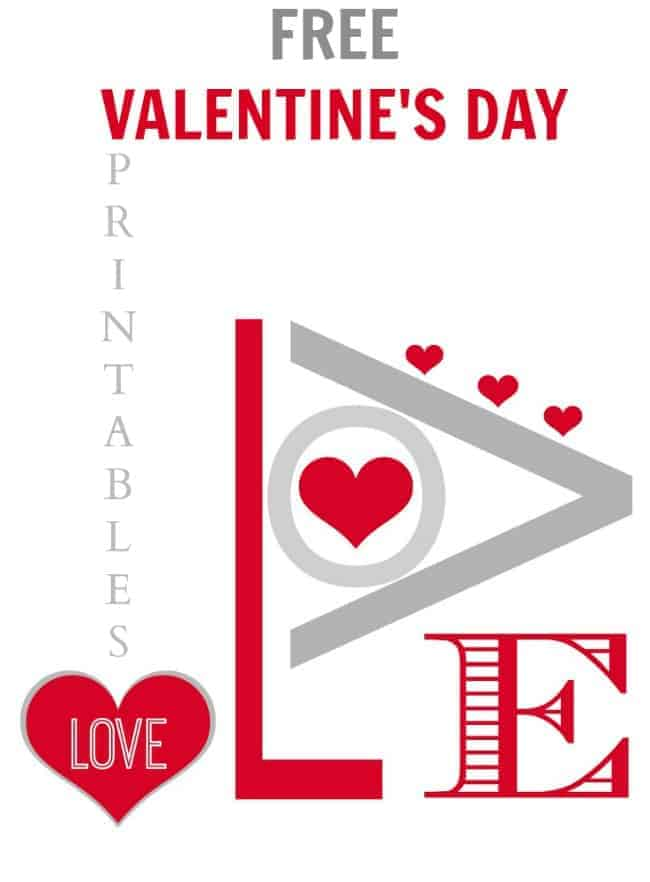 Free Valentine's Day printables @placeofmytaste.com