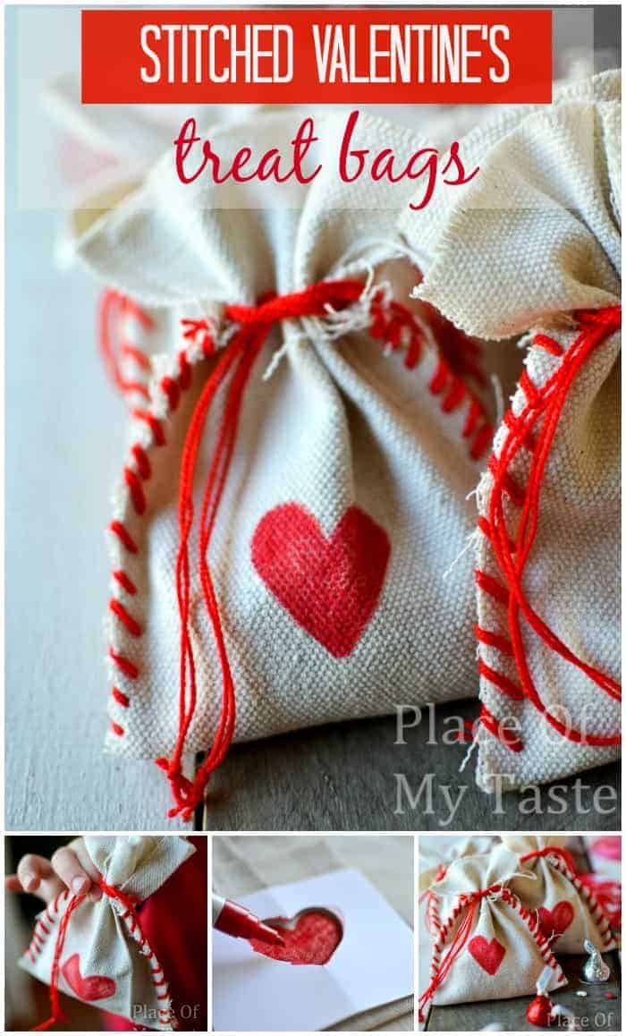 STITCHED VALENTINE'S TREAT BAGS @placeofmytaste.com