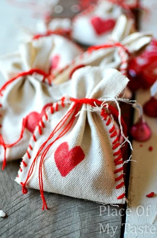 stitched valentines treat bags 30 diy bag