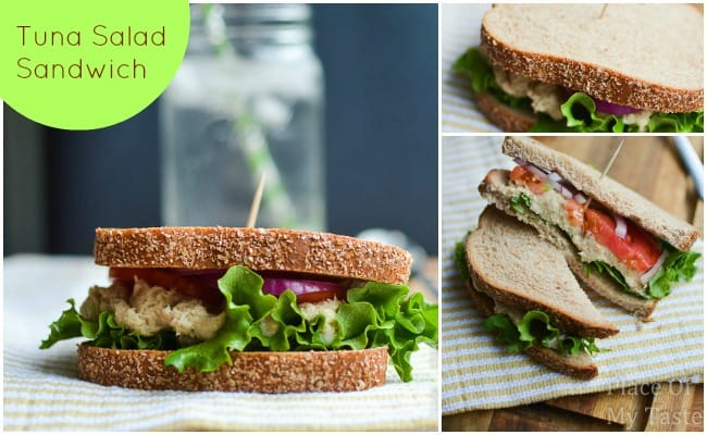 Tuna Salad Sandwich @placeofmytaste.com