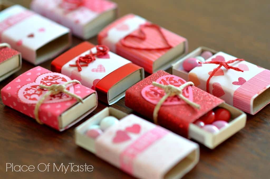 Valentine's matchboxes @placeofmytaste.com