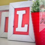 DIY letter framed art