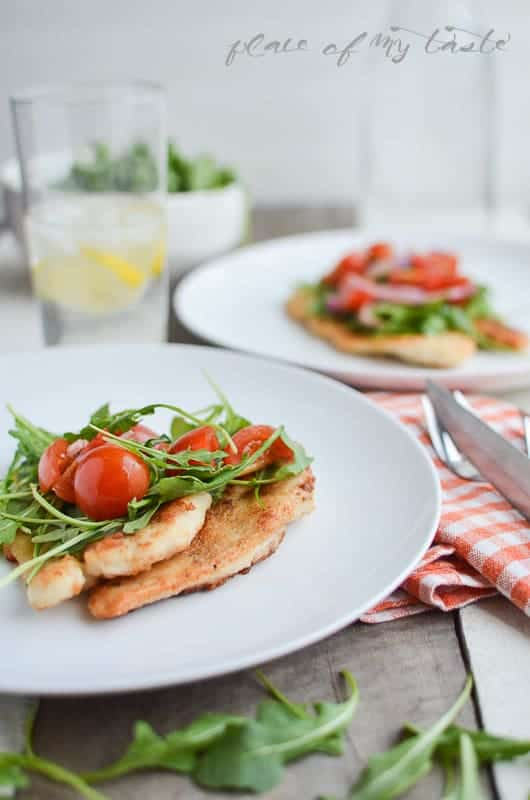 Chicken Breast with Arugula & Tomatoes (2)