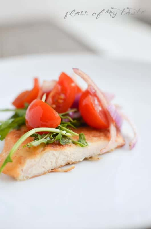 Chicken Breast with Arugula & Tomatoes (4)