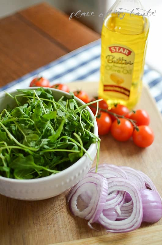 Chicken Breast with Arugula & Tomatoes , made with butter olive oil @placeofmytaste.com-1-4