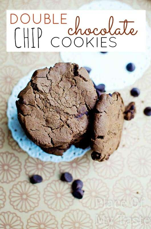 Double Chocolate Chip Cookies@placeofmytaste.com-0063