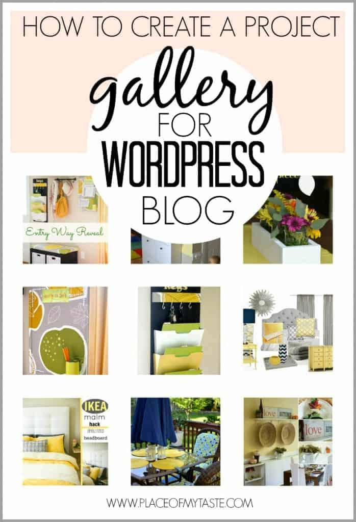 How to create a project gallery for WordPress Blog