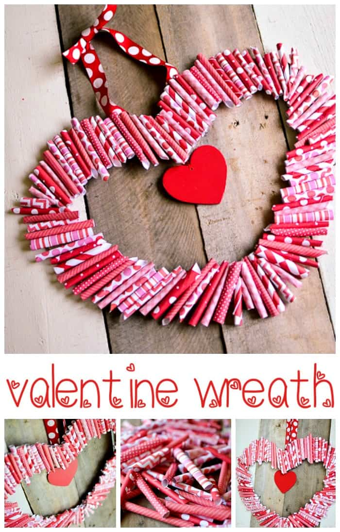 Valentine 39 s day decoration ideas roll up wreath for the door for Valentines day ideas seattle