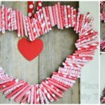 Roll Up Valentine Wreath