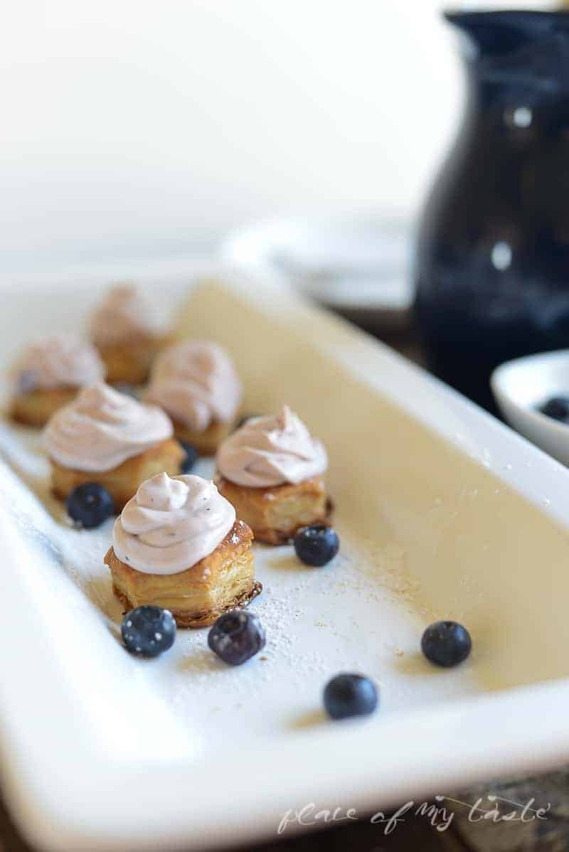 Blueberry Cream Cheese Mousse Bites- Place Of My Taste