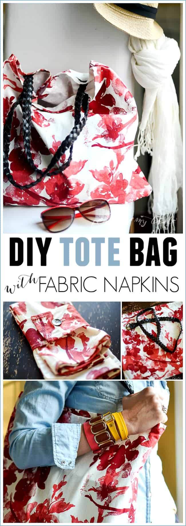 Diy Tote Bag Using Fabric Napkins Place Of My Taste