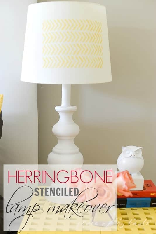 Herringbone Lamp makeover @placeofmytaste.com-