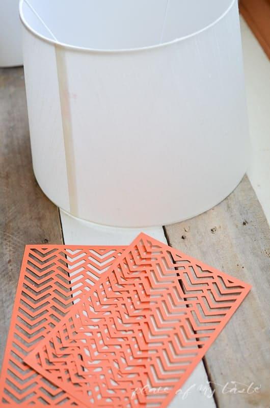 Herringbone Lamp makeover @placeofmytaste.com-1