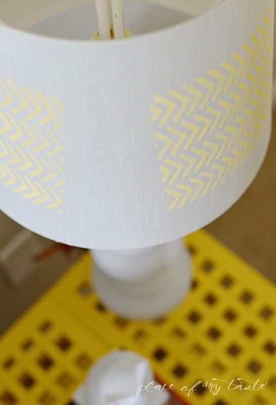 Herringbone Lamp makeover @placeofmytaste.com-6