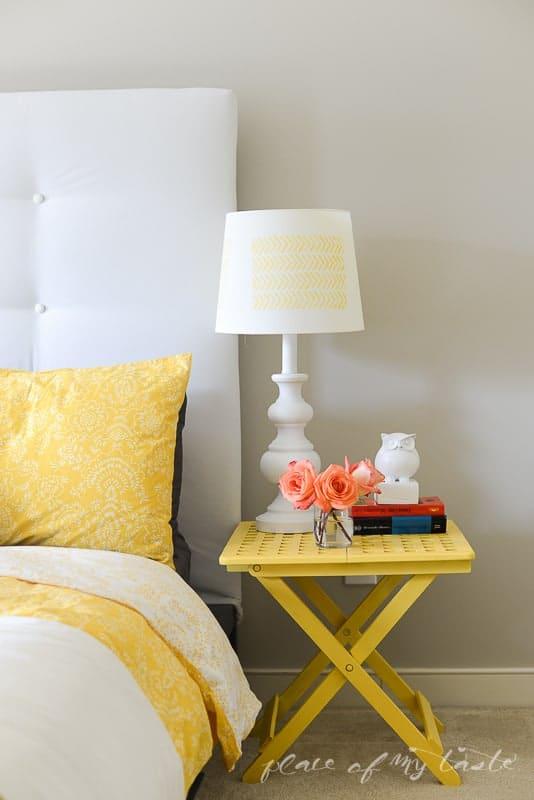 Herringbone Lamp Makeover @placeofmytaste.com 9