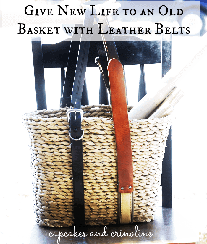 How-to-Add-Leather-Handles-to-an-Old-Basket-Cupcakes-and-Crinoline