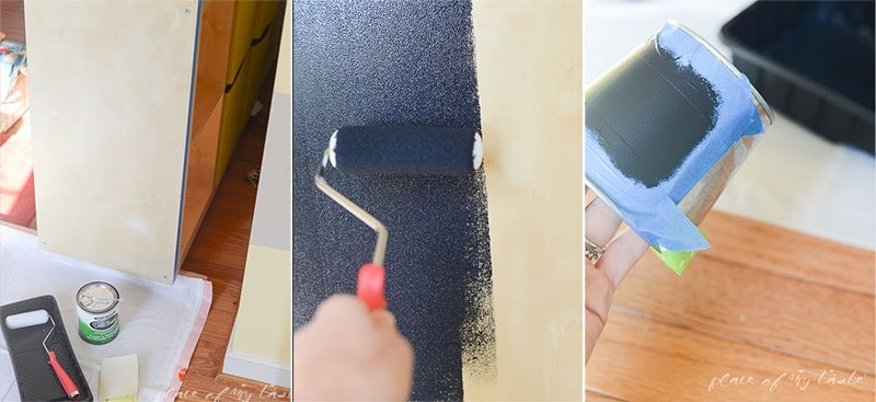 Painting Chalk on Shelf unit